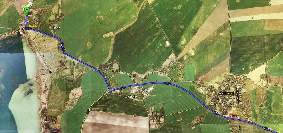 Anfahrtsbeschreibung zum Reiterhof Pferdezentrum Balance in Dranske auf Rügen